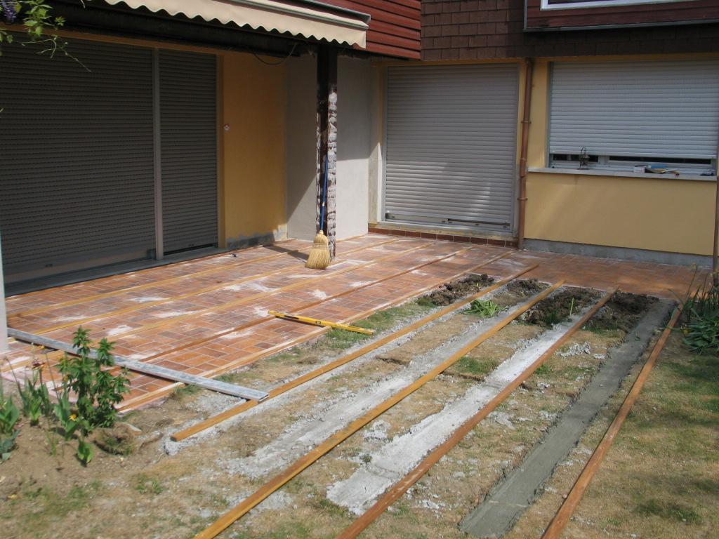 Excellent Comment Faire Une Terrasse En Bois With Poser Une Terrasse Sur  Plot